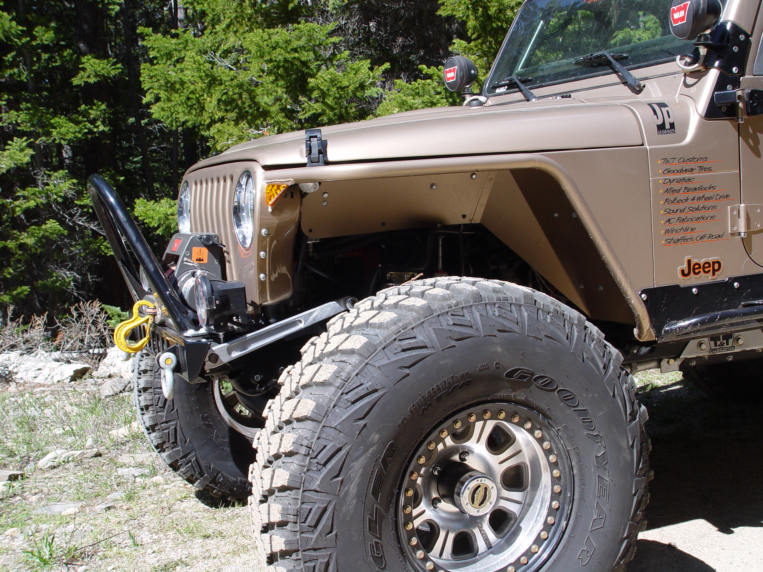 Jeep Wrangler Body Armor >> Jeep TJ Tube Fenders 3 Inch Flare High Clearance 97-06 ...