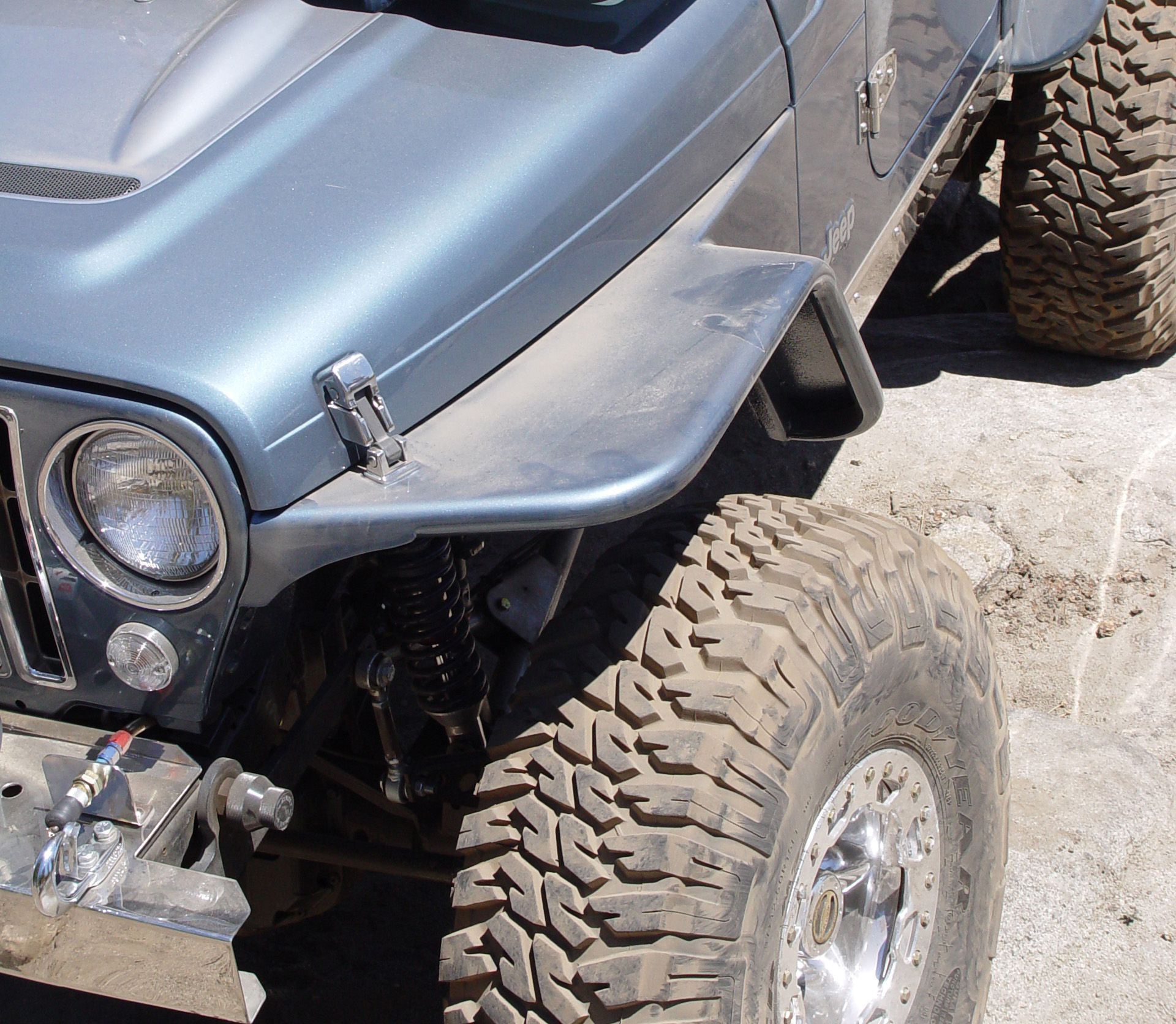 Jeep Tj Tube Fenders 6 Inch Flare 97 06 Wrangler Lj Tnt Customs Rear Suspension As Well Front Parts Diagram With
