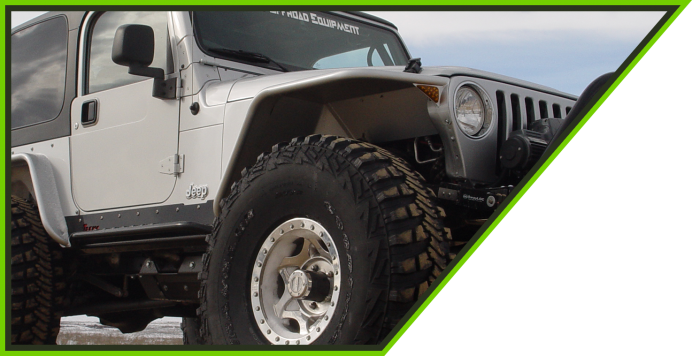 One Of The Best Vehicles For Modifying And Getting Out On The Hard Trails.  TNT Manufactures Everything You Need To Master Your Terrain In A TJ.