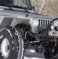 "TNT Jeep High Clearance Tube Fenders 4.5"" Flare inner front view"