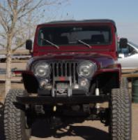 "TNT Jeep CJ Tube Fenders,3"" Flare,front view"