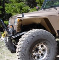 "TNT Jeep High Clearance Tube Fender 3"" Flare Hyline side view"