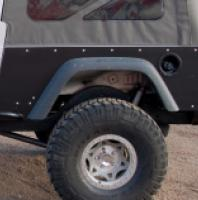 TNT Jeep LJ Corner Armor no flare, stock opening w/ stock flares