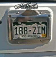 JK CB License Plate Mount
