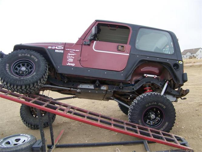 TNT Jeep Wrangler TJ Long Arm Suspension Upgrade Rear Flex