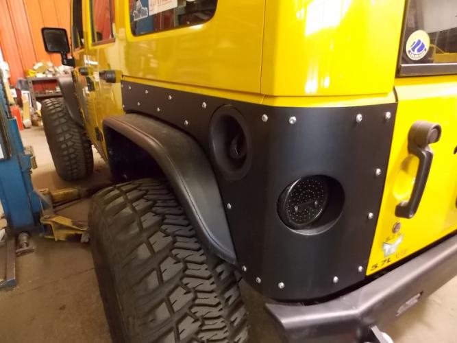 Jeep JK 4 Door Corner Armor,Aluinum,TNT Customs