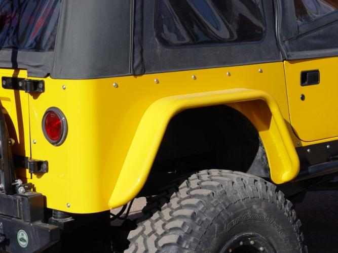 TNT Jeep CJ Corner Armor, LED Light Cutouts