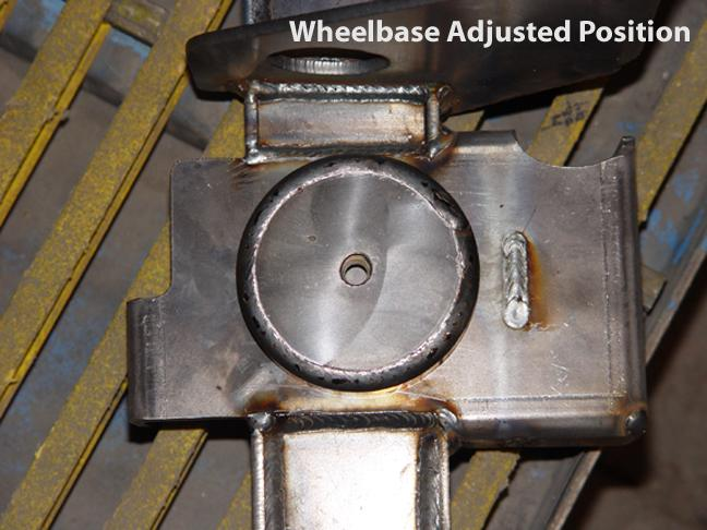 Jeep Axle Truss adjustable wheel base stretched position