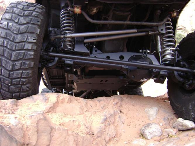 TNT Jeep Dana 30 Front Axle Truss installed