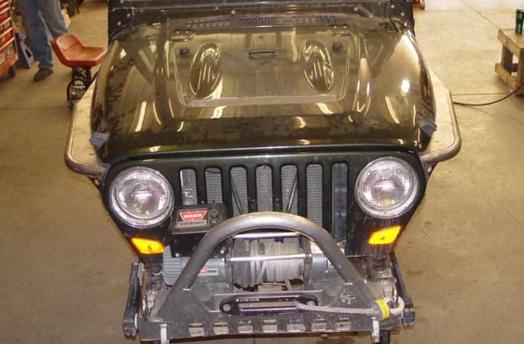 TNT Jeep High Clearance Tube Fenders Phantom Flare Hyline top view