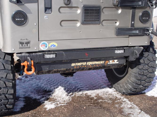 TnT Jeep TJ Rear Bumper w/ Reverse lights