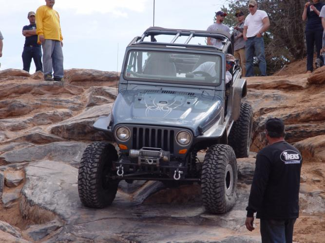 """TNT Jeep Tube Fenders 4.5"""" Flare front view"""