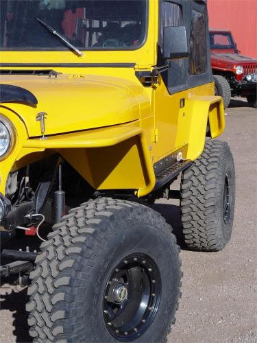 "TNT Jeep CJ Tube Fenders,3"" Flare,angled view"