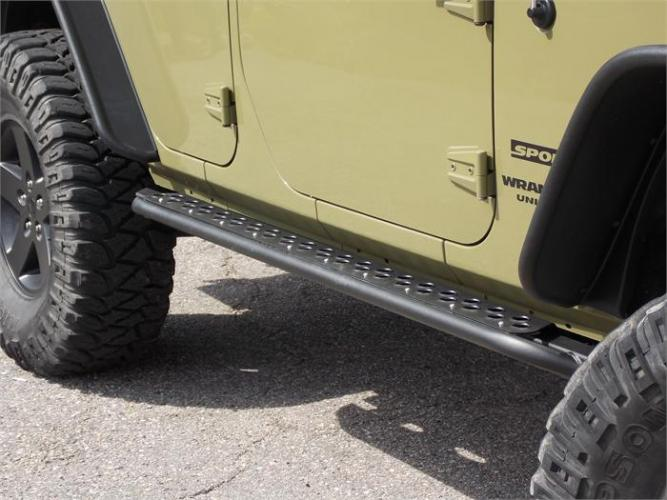 TNT Jeep JK 4 Door Unlimited Rock Sliders Adventure Steps