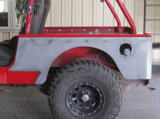 TNT Jeep LJ Corner Armor, No Flare, stock wheelwell opening