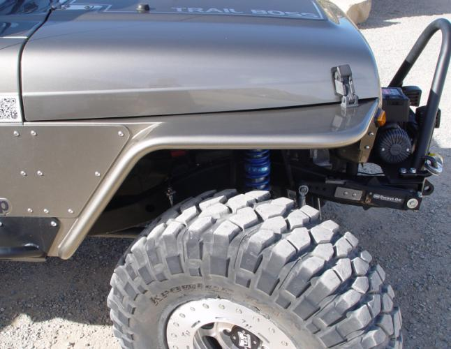 "TNT Jeep Tube Fenders 4.5"" Flare side view"